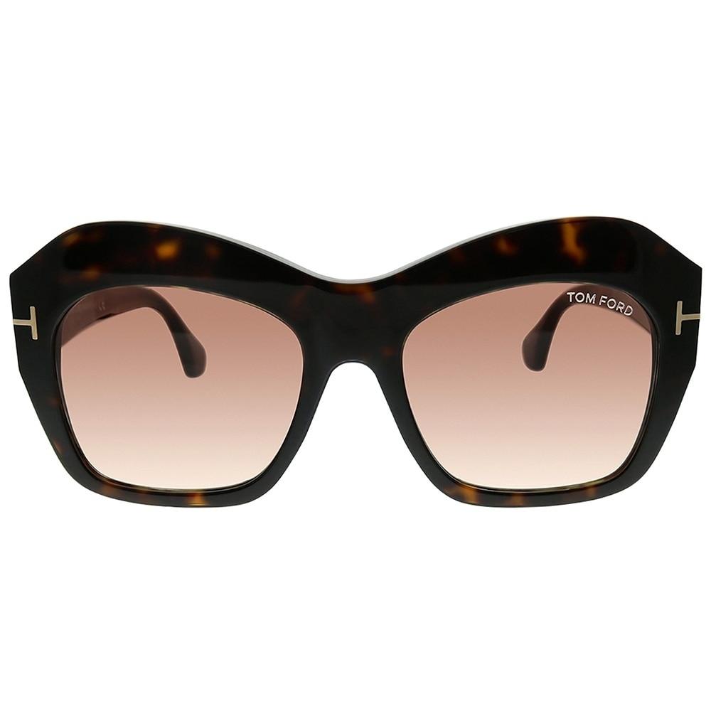 1f80d34d9b30a Shop Tom Ford Fashion TF 534 Emmanuelle 52F Women Dark Havana Frame Brown  Gradient Lens Sunglasses - Free Shipping Today - Overstock - 25567588