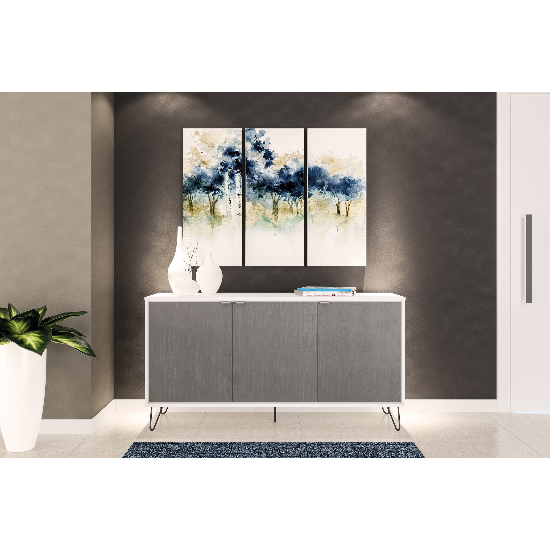 Polifurniture oakland white and grey sideboard