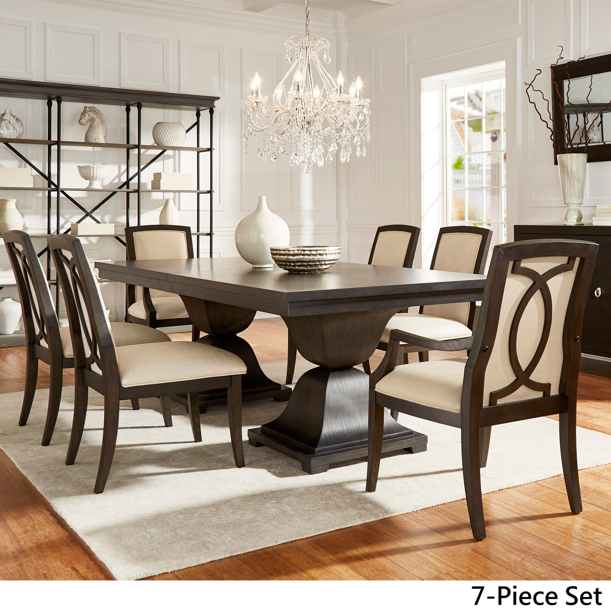 Strick Bolton Maren Scratch Resistant 118 Inch Dining Set With Turkish Coffee Finish