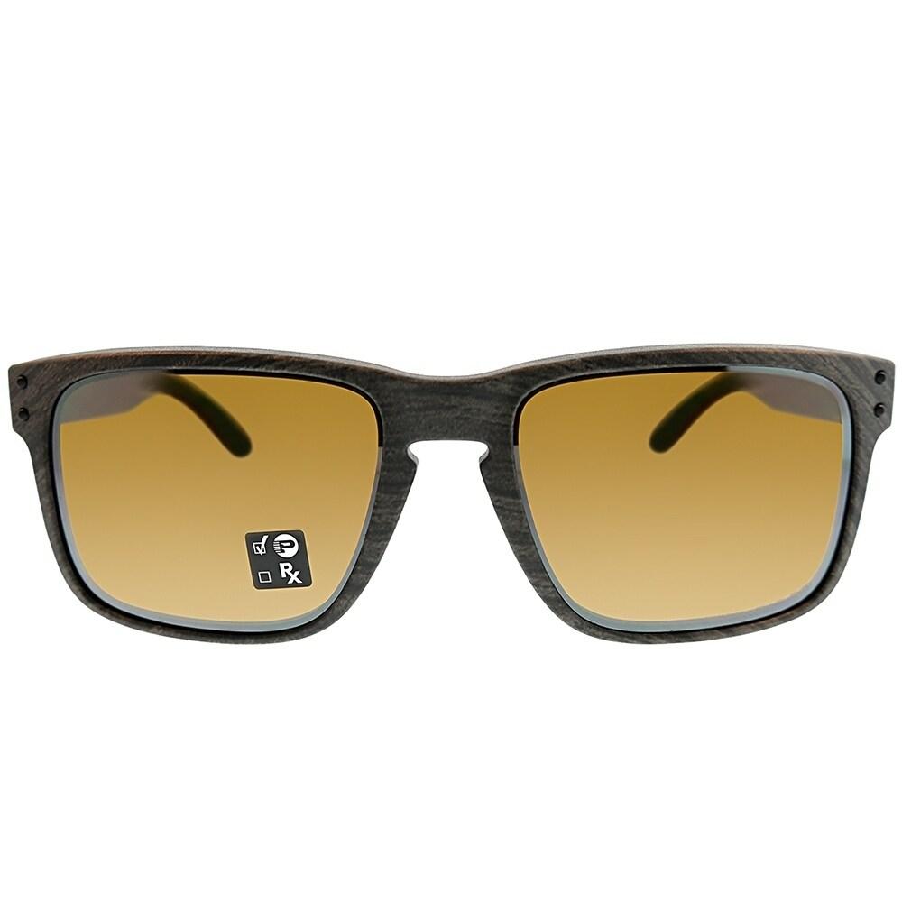 d172e9735a8 Shop Oakley Square OO 9102 Holbrook A3 Unisex Woodgrain Frame  TungstenIridium Polarized Lens Sunglasses - Free Shipping Today - Overstock  - 25580013
