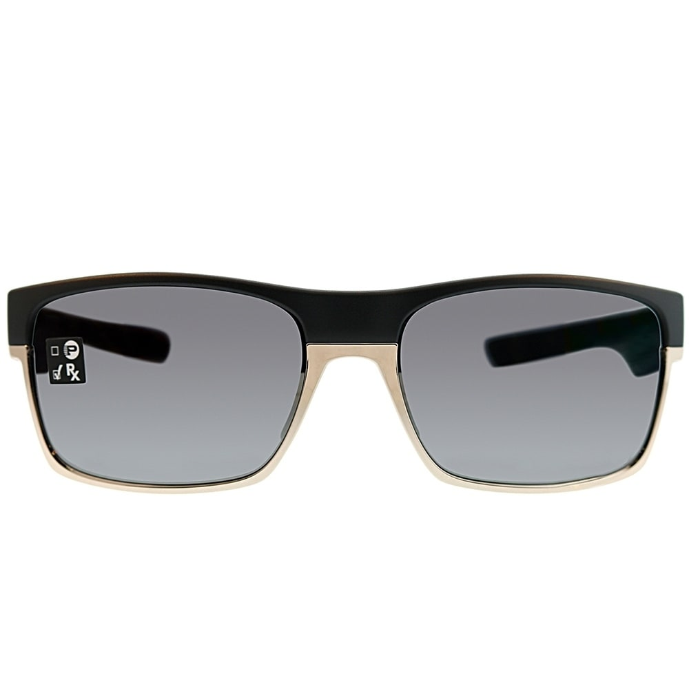 992be93801ffe Shop Oakley Rectangle OO 9189 TwoFace 20 Unisex Matte Black Frame Grey  Mirror Polarized Sunglasses - Free Shipping Today - Overstock - 25580015