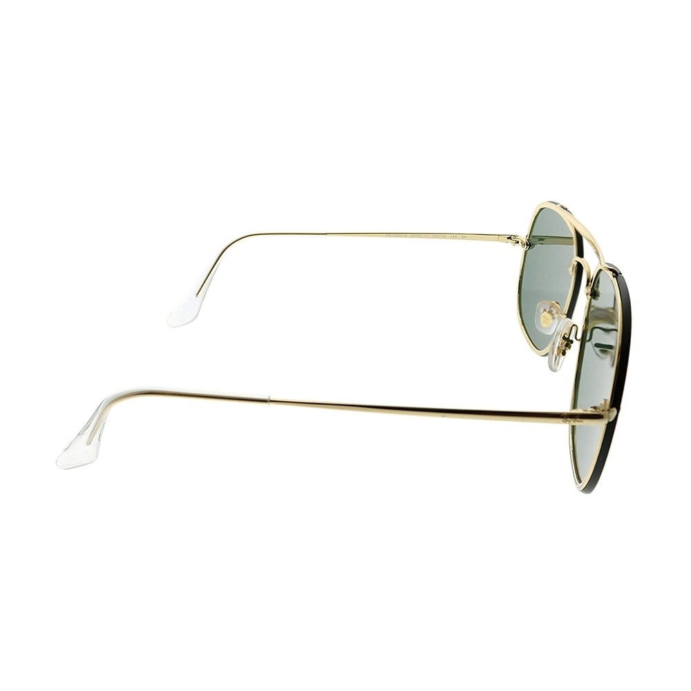 43f343f56ad Shop Ray-Ban Aviator RB 3583N Blaze General 905071 Unisex Gold Frame Green  Lens Sunglasses - Free Shipping Today - Overstock - 25580051