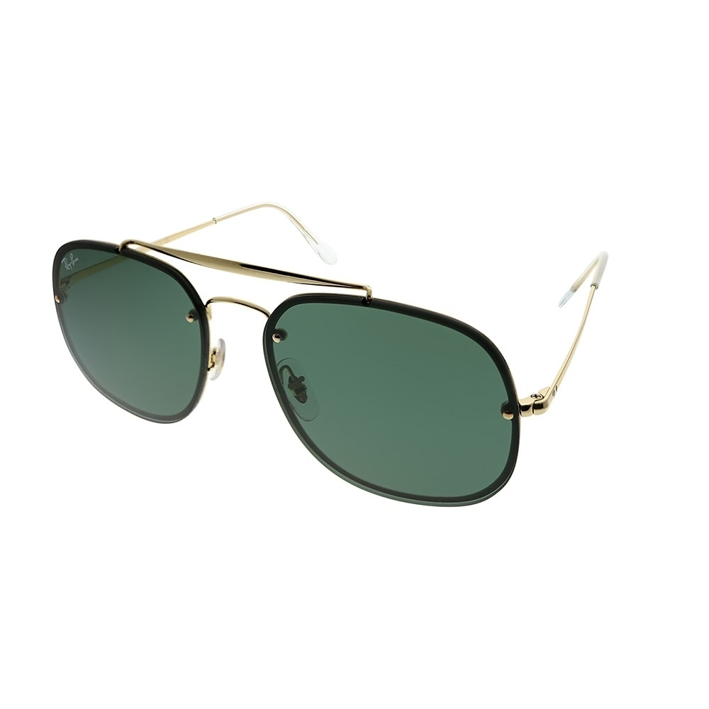 80922b0e08 Shop Ray-Ban Aviator RB 3583N Blaze General 905071 Unisex Gold Frame Green  Lens Sunglasses - Free Shipping Today - Overstock - 25580051