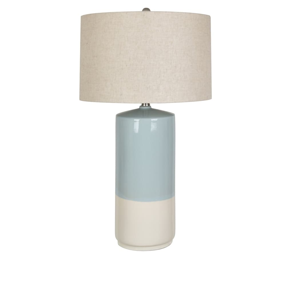 Merveilleux Shop Rochester Blue And White 28.5 Inch Ceramic Drum Table Lamp   Free  Shipping Today   Overstock   25581302