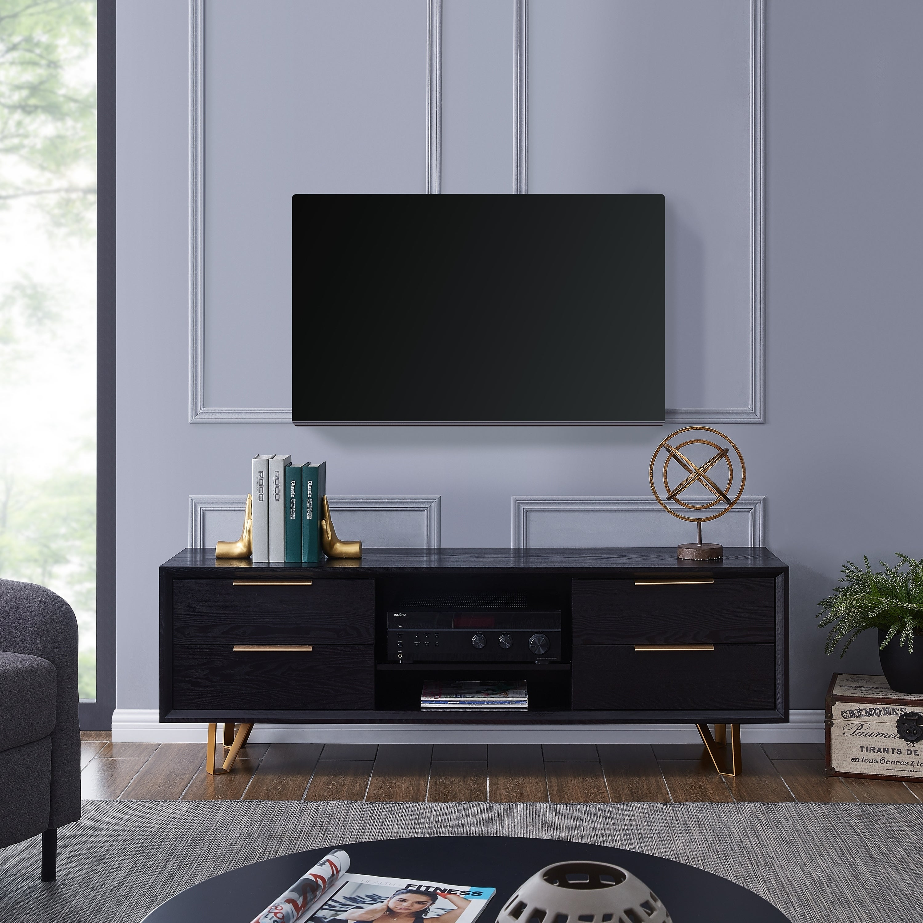 Roco furniture china top 10 brands Furniture Makers Harper Blvd Mableton Black Entertainment Console Irodrico Shop Harper Blvd Mableton Black Entertainment Console On Sale