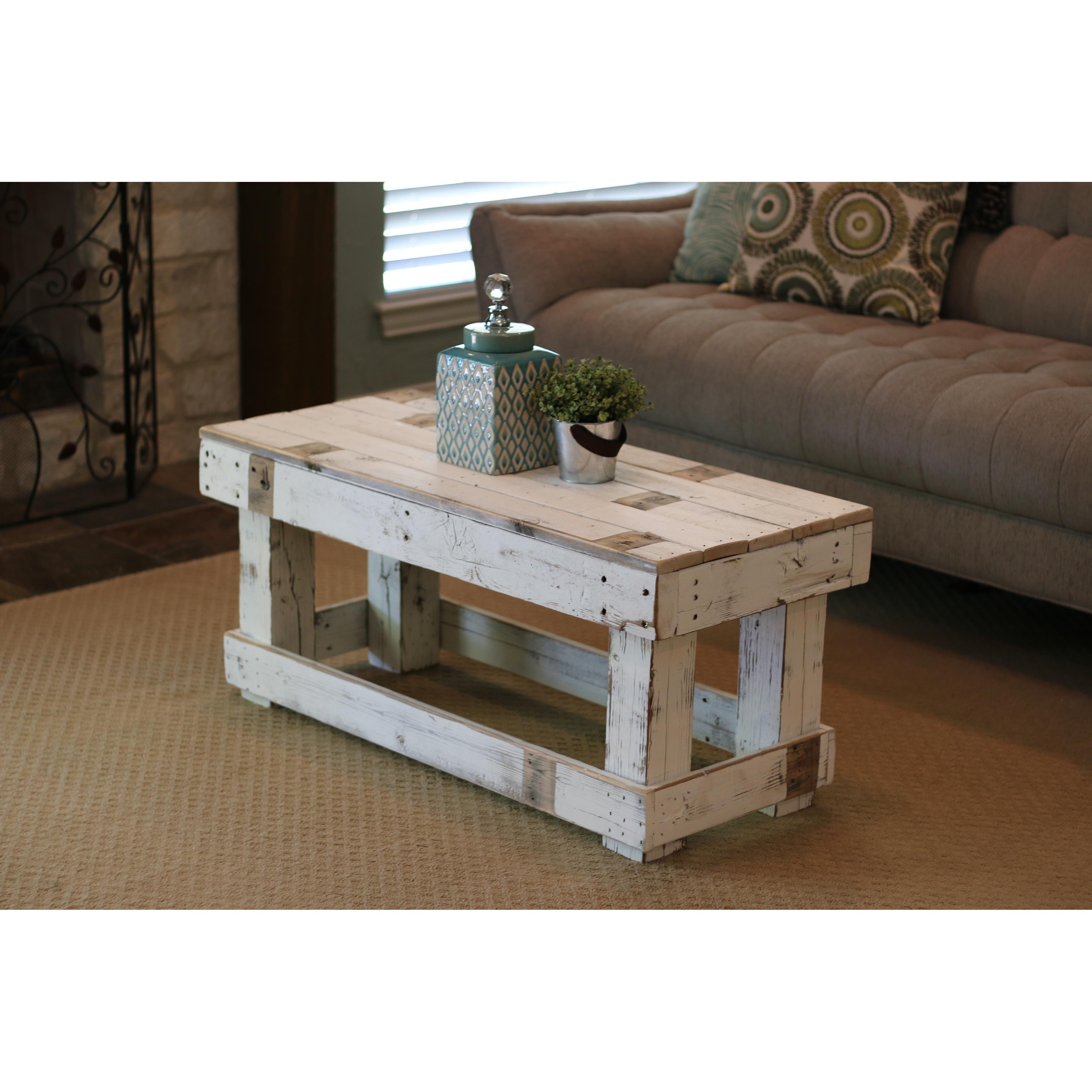 White Farmhouse Coffee Table Overstock 25602399