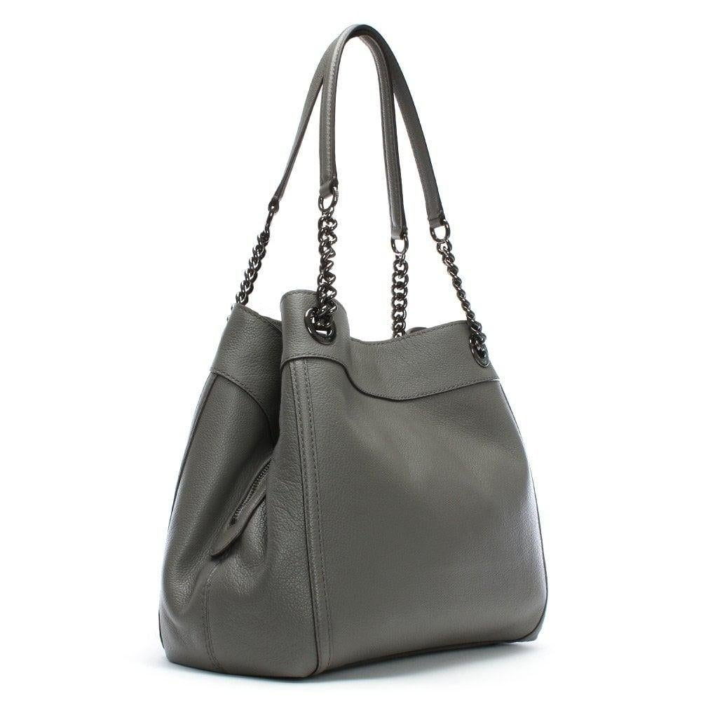 Shop Coach Turnlock Edie Shoulder Bag Heather Grey - Free Shipping Today -  Overstock - 25614209 49be1977878e4