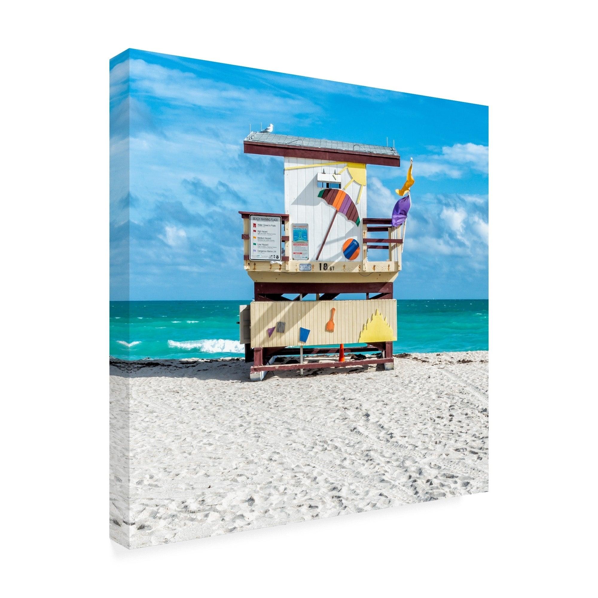 Richard Silver 'Miami Beach Iv' Canvas Art
