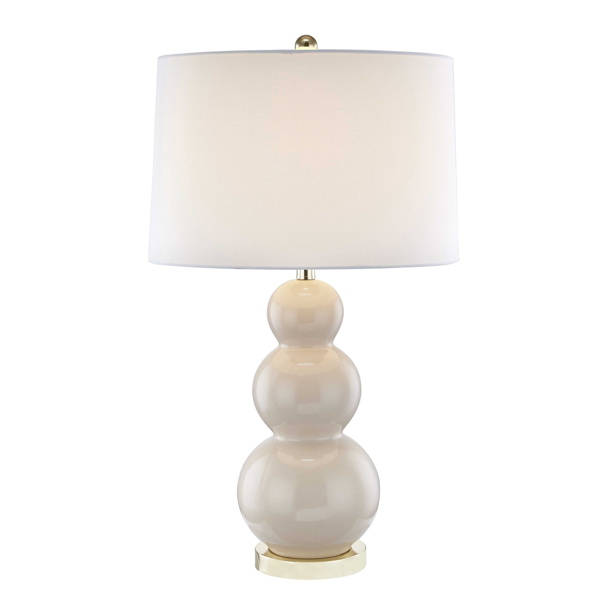 Shop Ceramic Triple Gourd Table Lamp Cream 30 Free Shipping