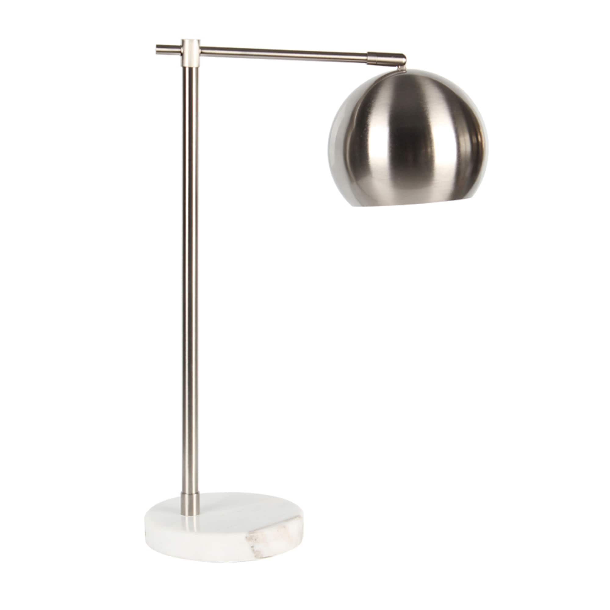 Shop Metal Round Task Table Lamp Silver 22 Free Shipping Today
