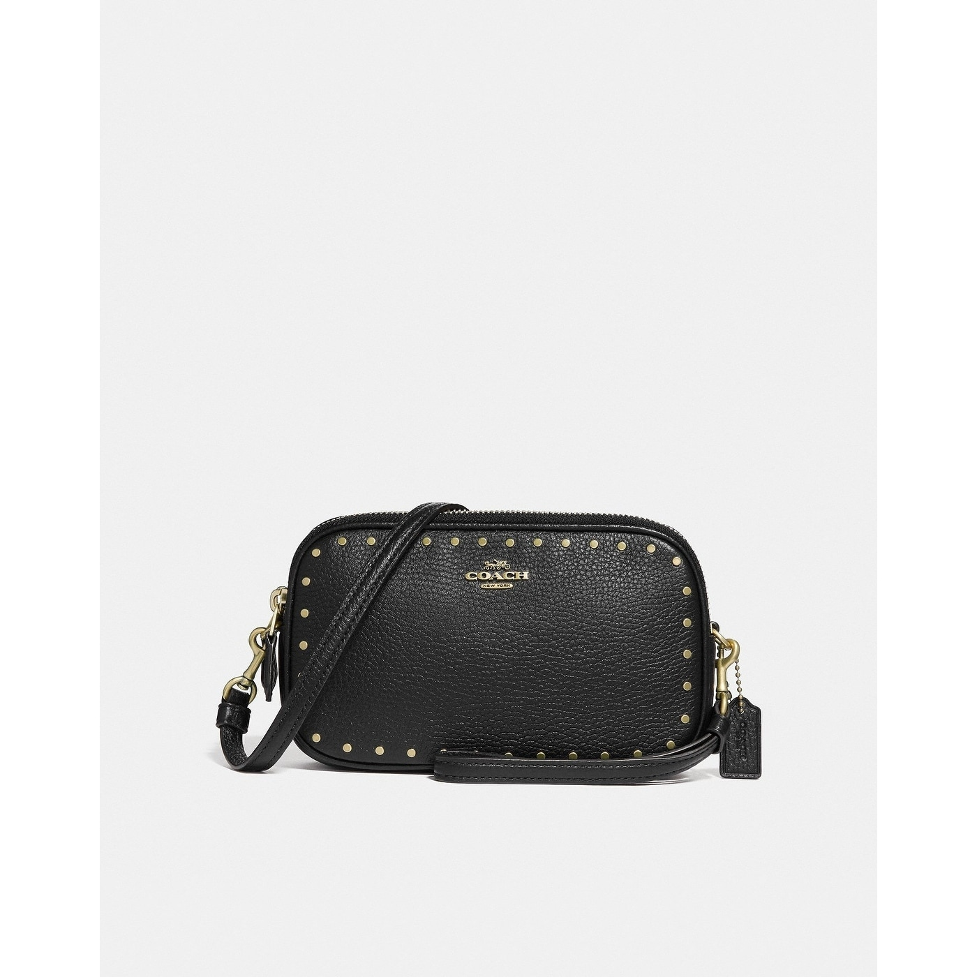 6b372a562864 Shop Coach Sadie Crossbody Clutch With Rivets - On Sale - Free Shipping  Today - Overstock - 25625972