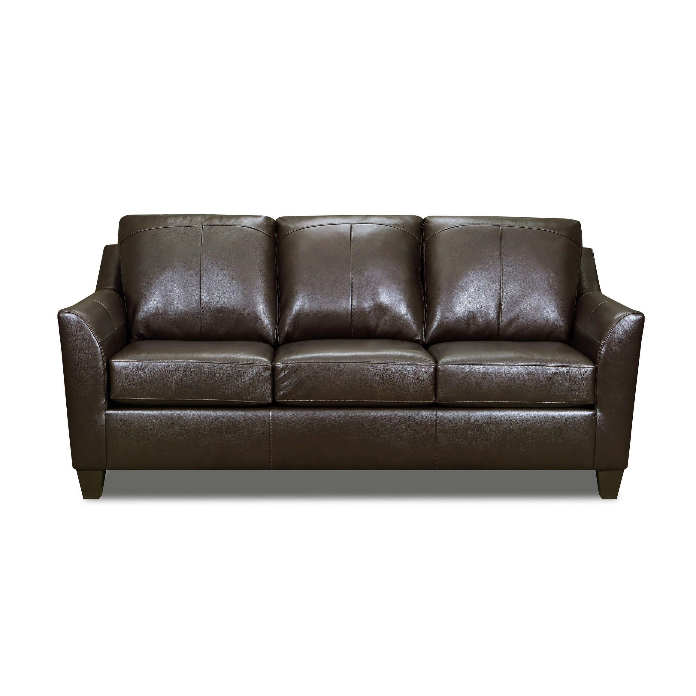 Shop Lance Top Grain Leather Queen Sleeper Sofa On Sale Free