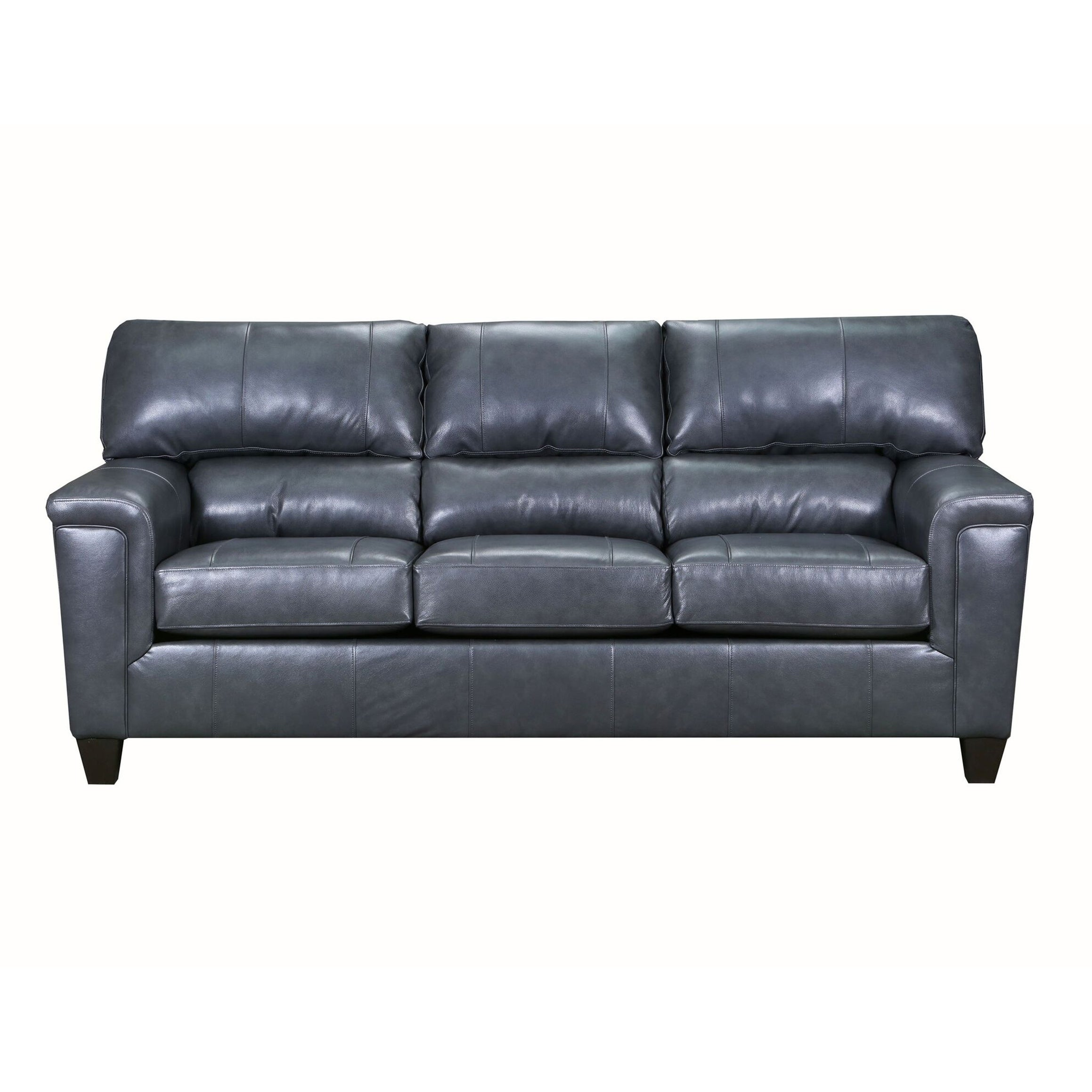 David Top Grain Leather Queen Sleeper Sofa Free Shipping Today 25627691