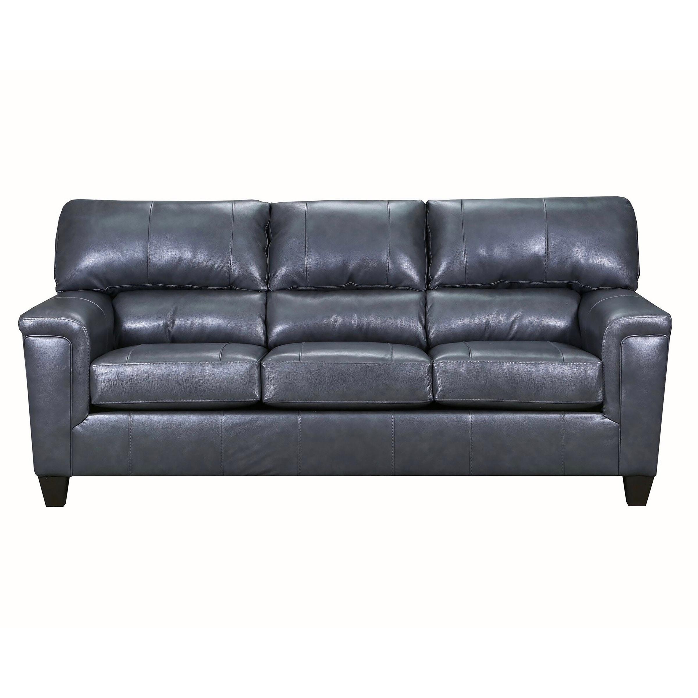 Shop David Top Grain Leather Queen Sleeper Sofa On Sale Free