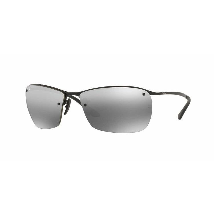 f965d12bd6605 Ray Ban RB3544 Black Frame Polarized Silver Mirror Chromance 64mm Lens  Sunglasses