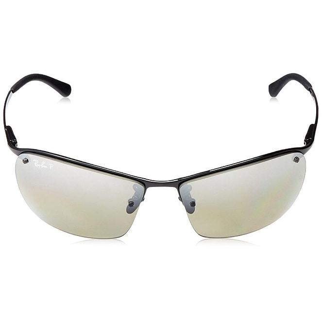 a56cdbd71b3 Shop Ray Ban RB3544 Black Frame Polarized Silver Mirror Chromance 64mm Lens  Sunglasses - Free Shipping Today - Overstock.com - 25627711