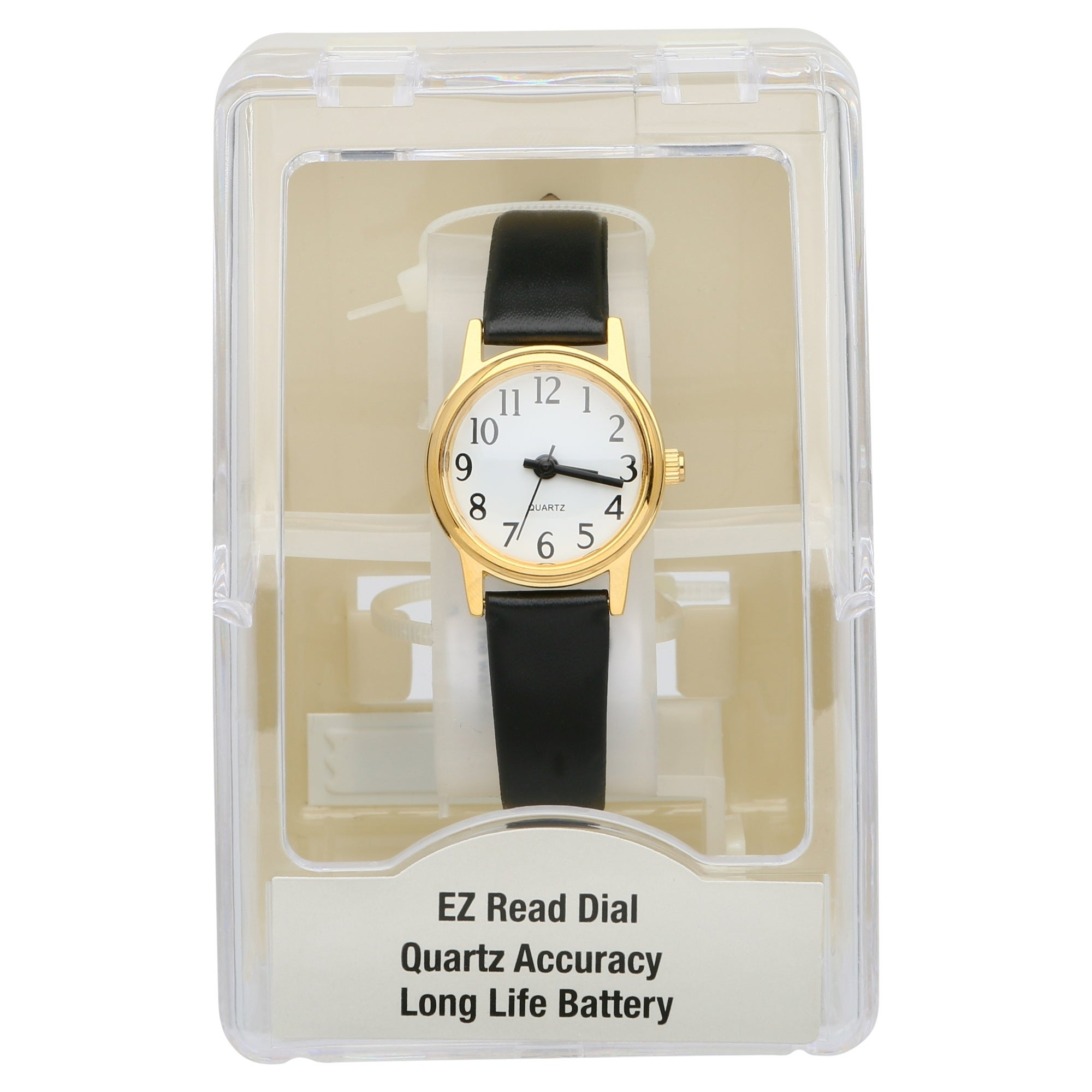 57a1f5ae7b7 Shop Kmart Generic Womens leather black Watch - Free Shipping On Orders  Over  45 - Overstock - 25627858