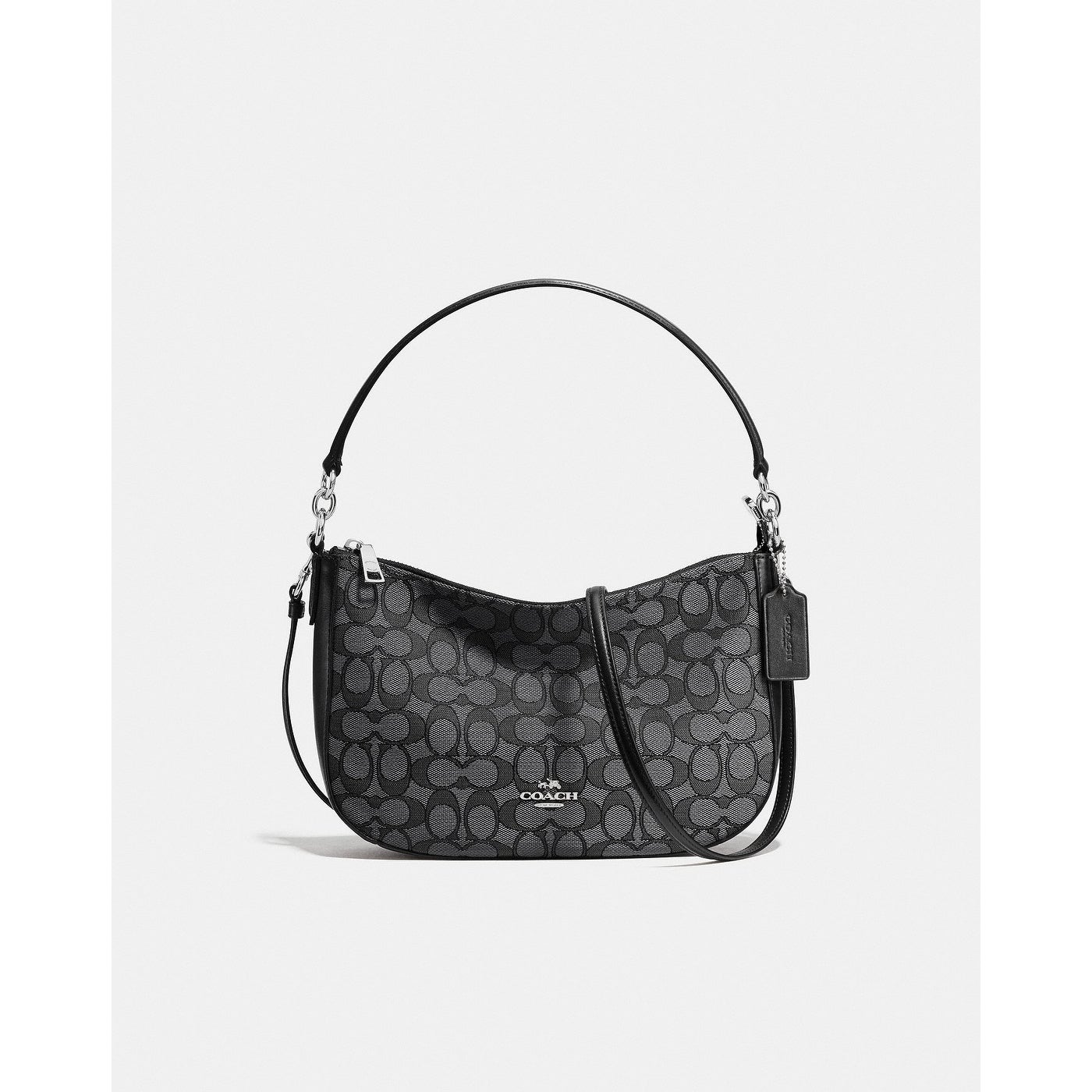 2c9206016 Shop Coach Chelsea Crossbody In Signature Jacquard Black Smoke - Free  Shipping Today - Overstock - 25628666