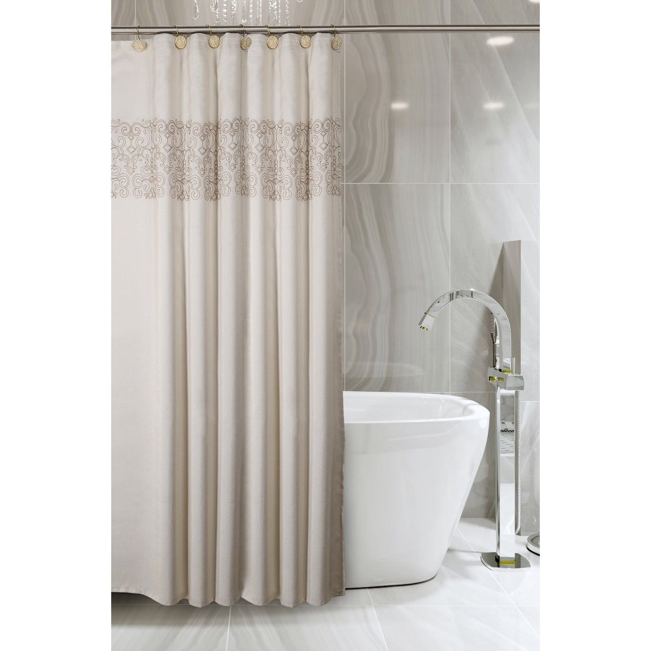 Shannon Shower Curtain With Free PEVA Liner 72 X Inch