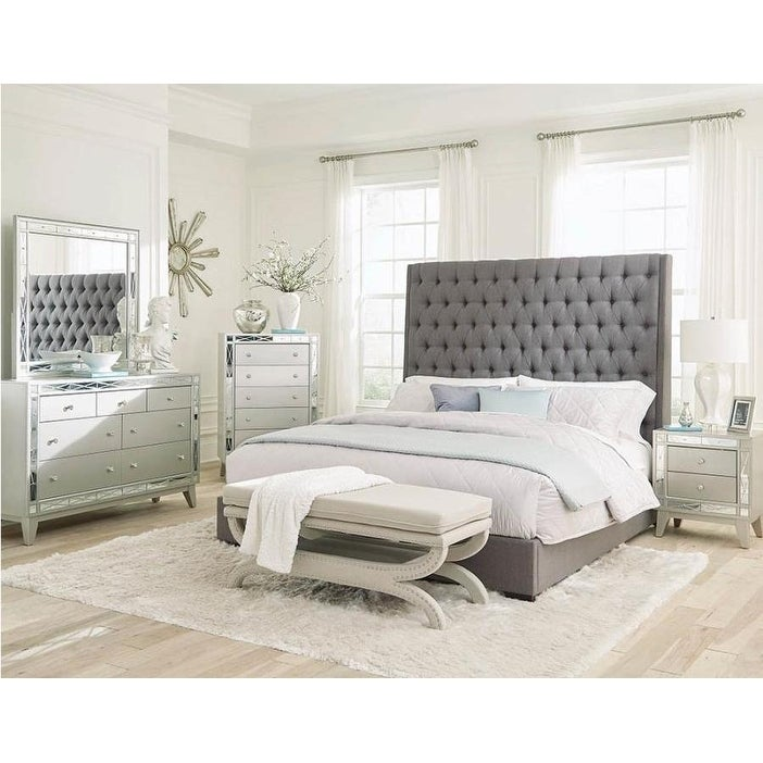 Ramble Woven Fabric Panel Bed Free Shipping Today 25629376