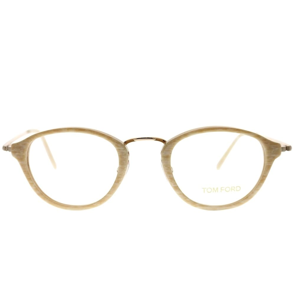 13441372e2f Shop Tom Ford Round FT 5321 060 Unisex Beige Horn Frame Eyeglasses - Free  Shipping Today - Overstock.com - 25639621