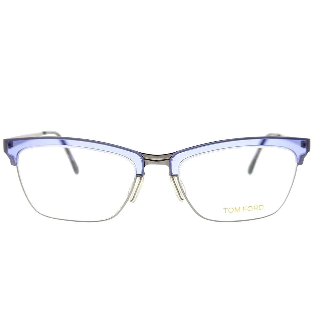 0edf4863f8d95 Shop Tom Ford Cat-Eye FT 5392 080 Women Grey Frame Eyeglasses - Ships To  Canada - Overstock - 25639645