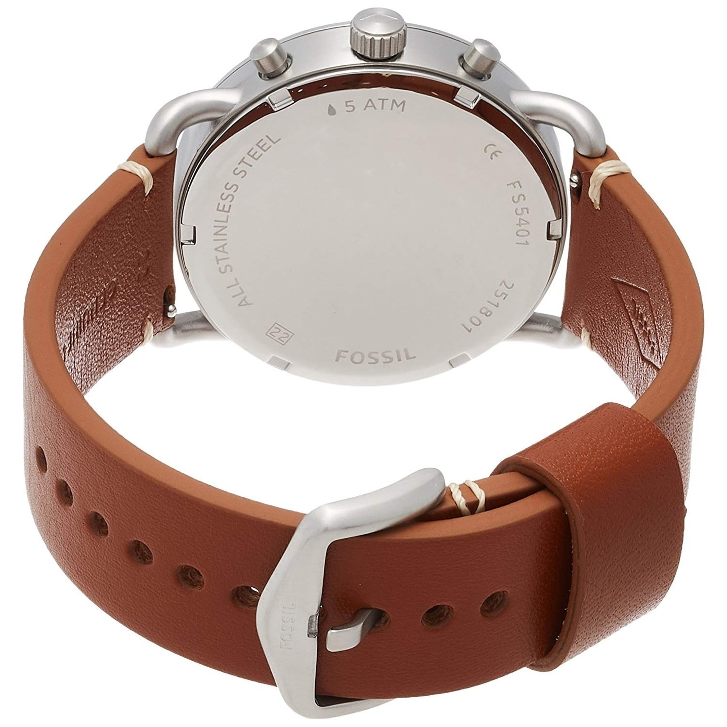 8cd1db161 Shop Fossil Men's FS5401 The Commuter Chronograph Blue Dial Light Brown  Leather Watch - On Sale - Free Shipping Today - Overstock - 25659929