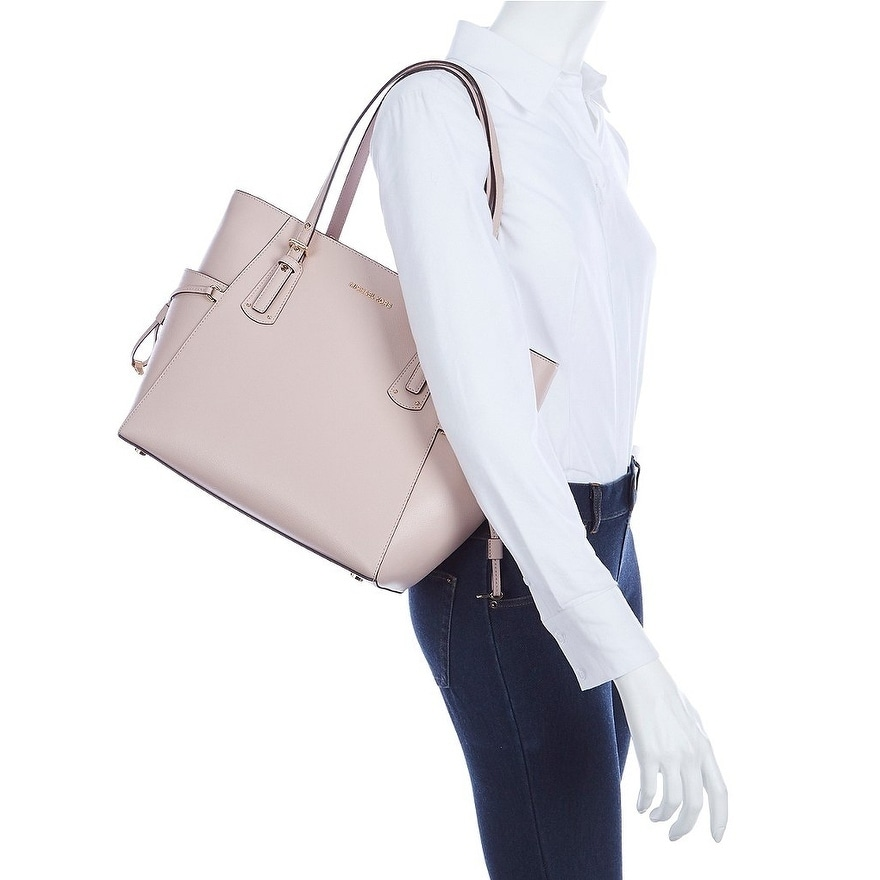 a08a622423bd6 Shop MICHAEL Michael Kors Voyager East West Tote Soft Pink - Free Shipping  Today - Overstock - 25681532