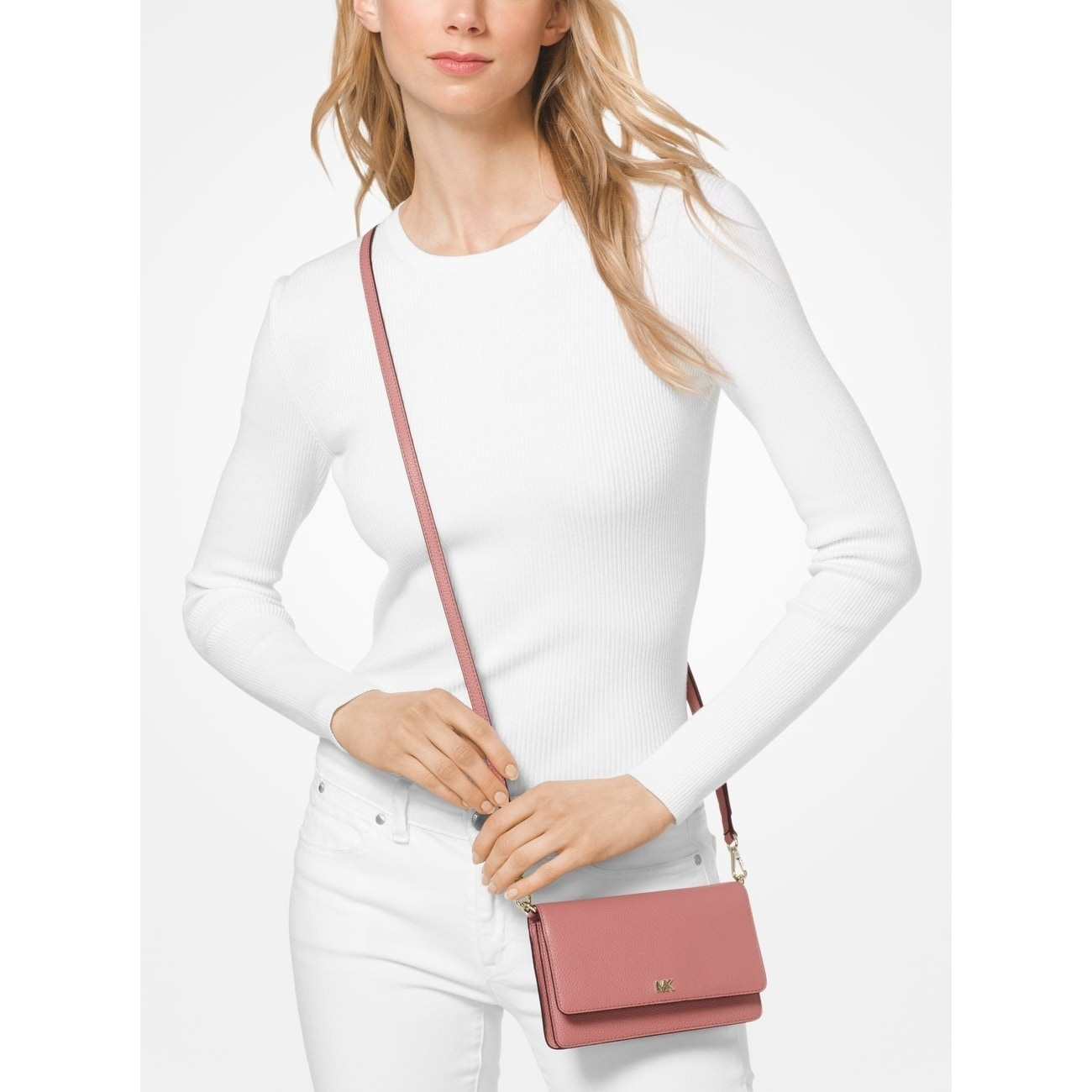 ee7a3f87dc62 Shop MICHAEL Michael Kors Pebbled Leather Convertible Crossbody - Free  Shipping Today - Overstock - 25681583