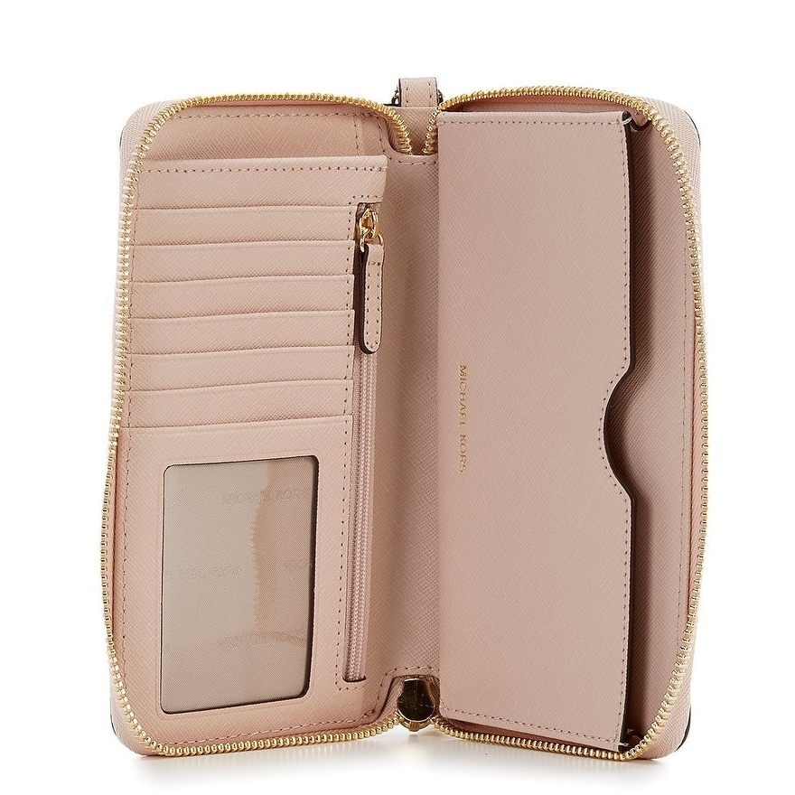 89ca271d5ddc Shop MICHAEL Michael Kors Jet Set Large Flat Multifunction Phone Case - On  Sale - Free Shipping Today - Overstock - 25681603