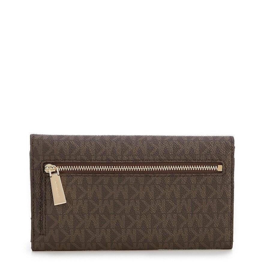f235315f9d00 Shop MICHAEL Michael Kors Signature Large Trifold Wallet - Free ...