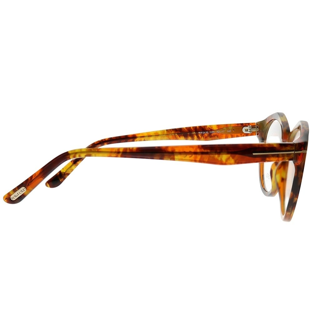 823443c907 Shop Tom Ford Round FT 5416 55 Women Light Tortoise Frame Eyeglasses - Free  Shipping Today - Overstock - 25683304