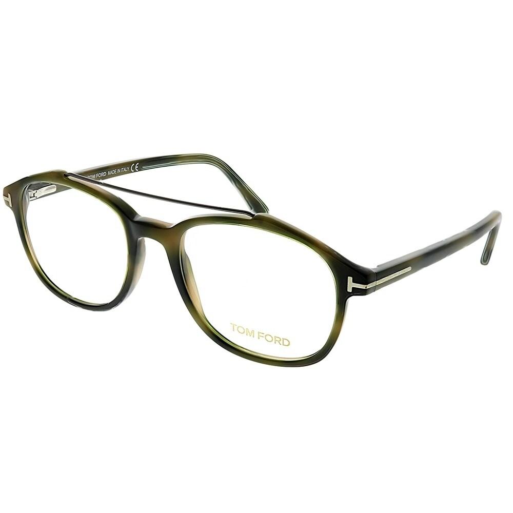fedc67312dc15 Tom Ford Square FT 5454 055 Unisex Green Havana Frame Eyeglasses