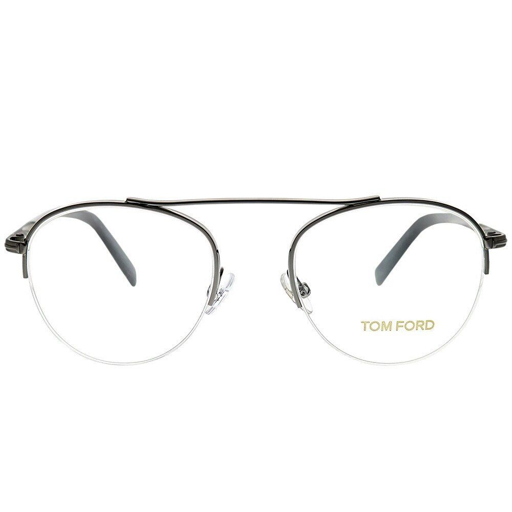 36086270504 Shop Tom Ford Round FT 5451 012 Unisex Dark Ruthenium Frame Eyeglasses -  Free Shipping Today - Overstock - 25683323