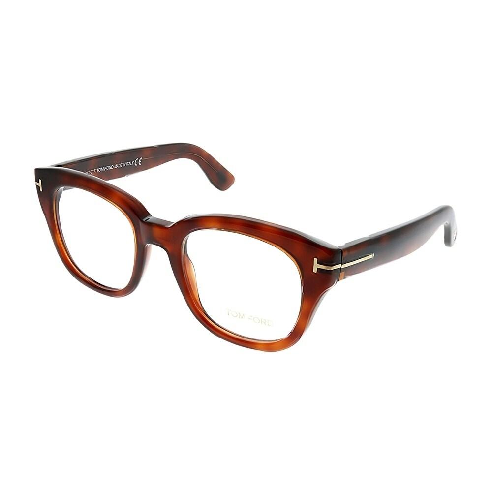 8d940e5c10 Shop Tom Ford Square FT 5473 053 Unisex Red Havana Frame Eyeglasses ...