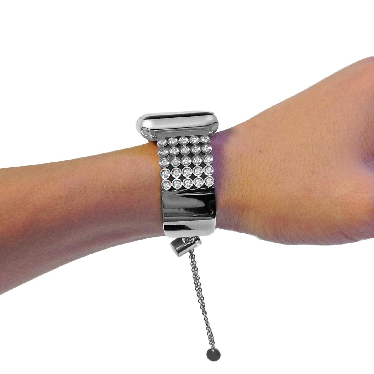 0bdb05aa78 Swarovski Crystal Apple Watch Band in Silver