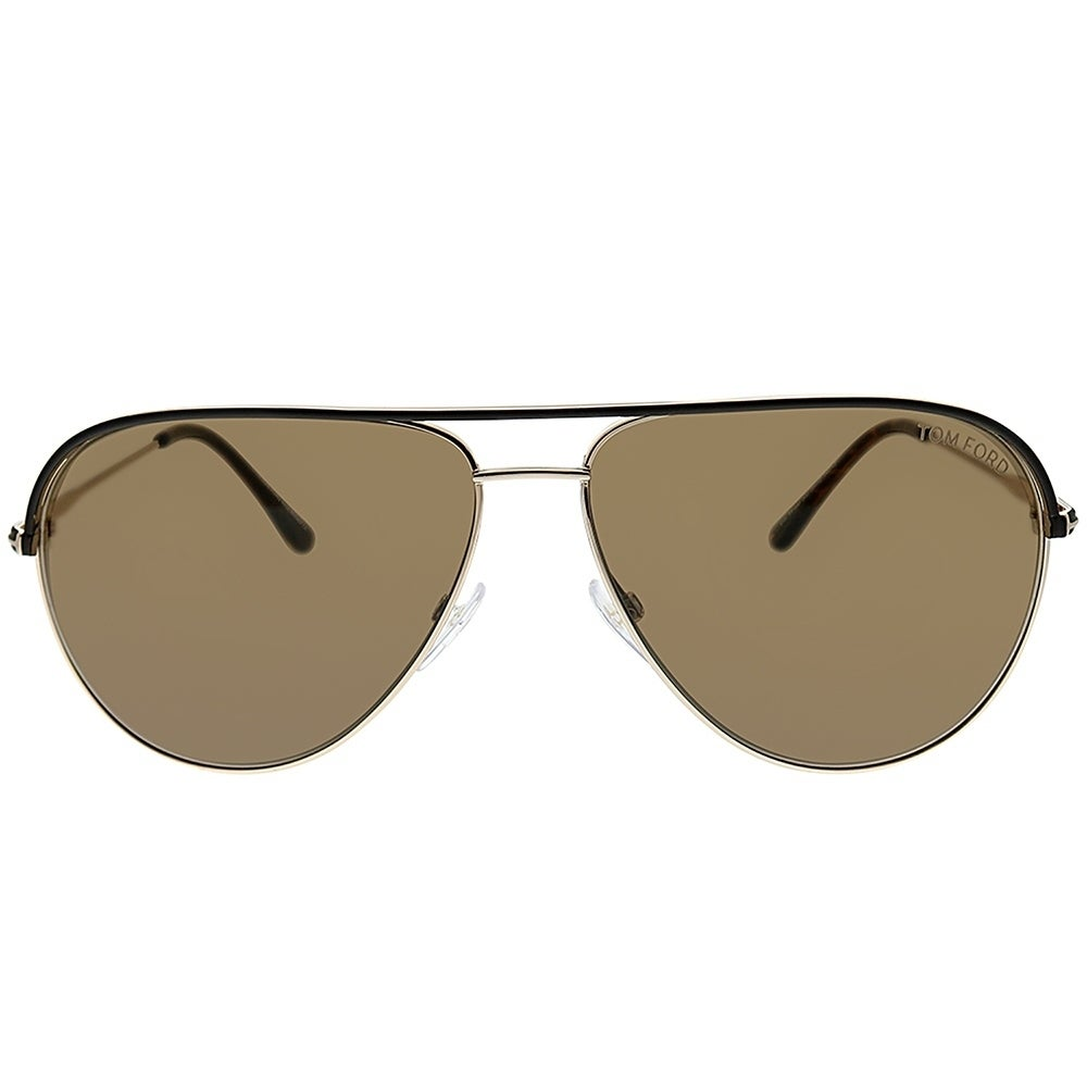 ba15d79c34d Shop Tom Ford Aviator TF 466 Erin 50J Unisex Brown And Gold Frame Brown  Lens Sunglasses - Free Shipping Today - Overstock.com - 25715351