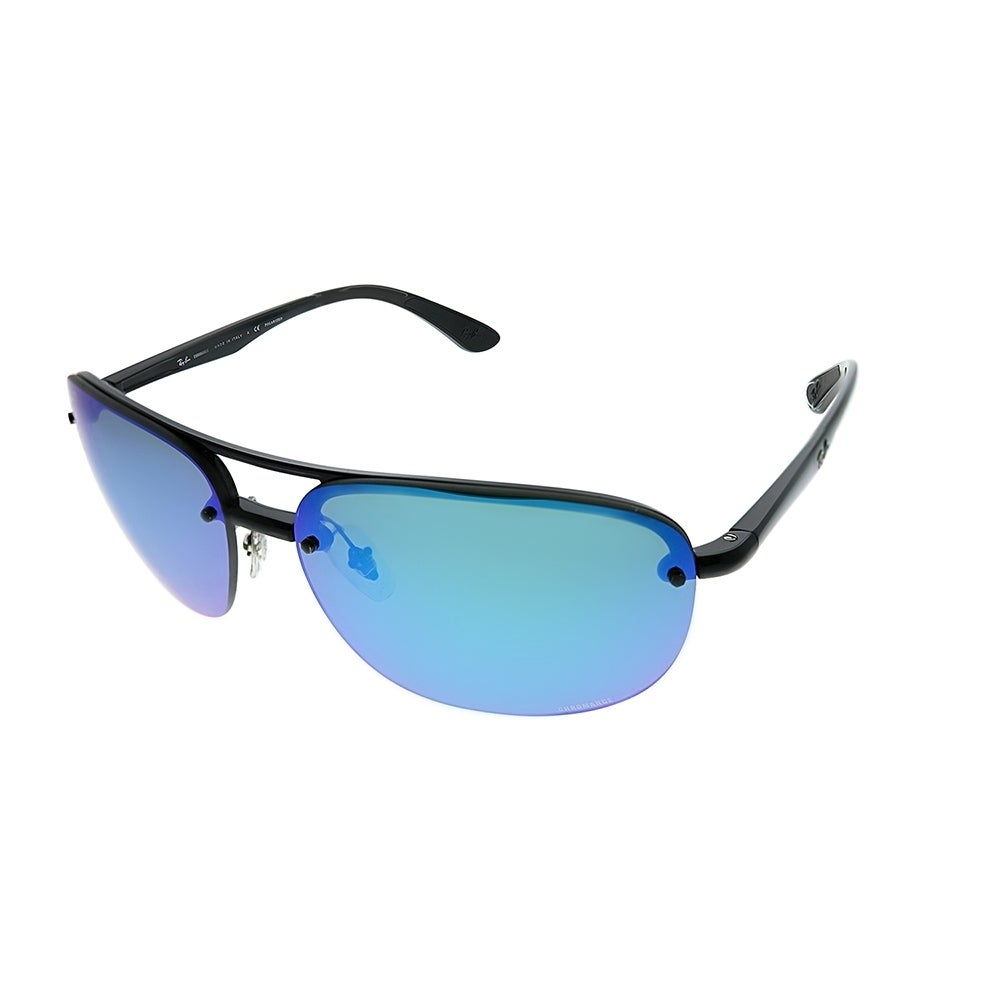 cd31323466b31 Ray-Ban Sport RB 4275CH 601 A1 Unisex Black Frame Blue Mirrored Polarized  Chromance Lens Sunglasses