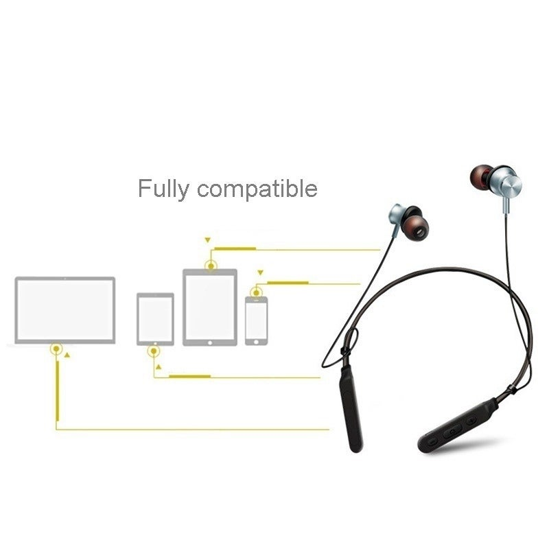 shop m8 hanging neck wireless bluetooth headset in-ear stereo earphone -  free shipping on orders over $45 - overstock - 25719442