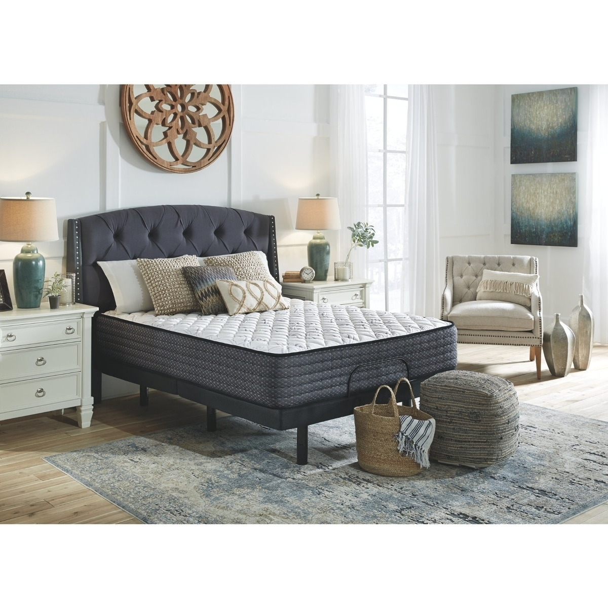 Ashley Furniture Signature Design Limited Edition Firm 13 Inch King Mattress In White