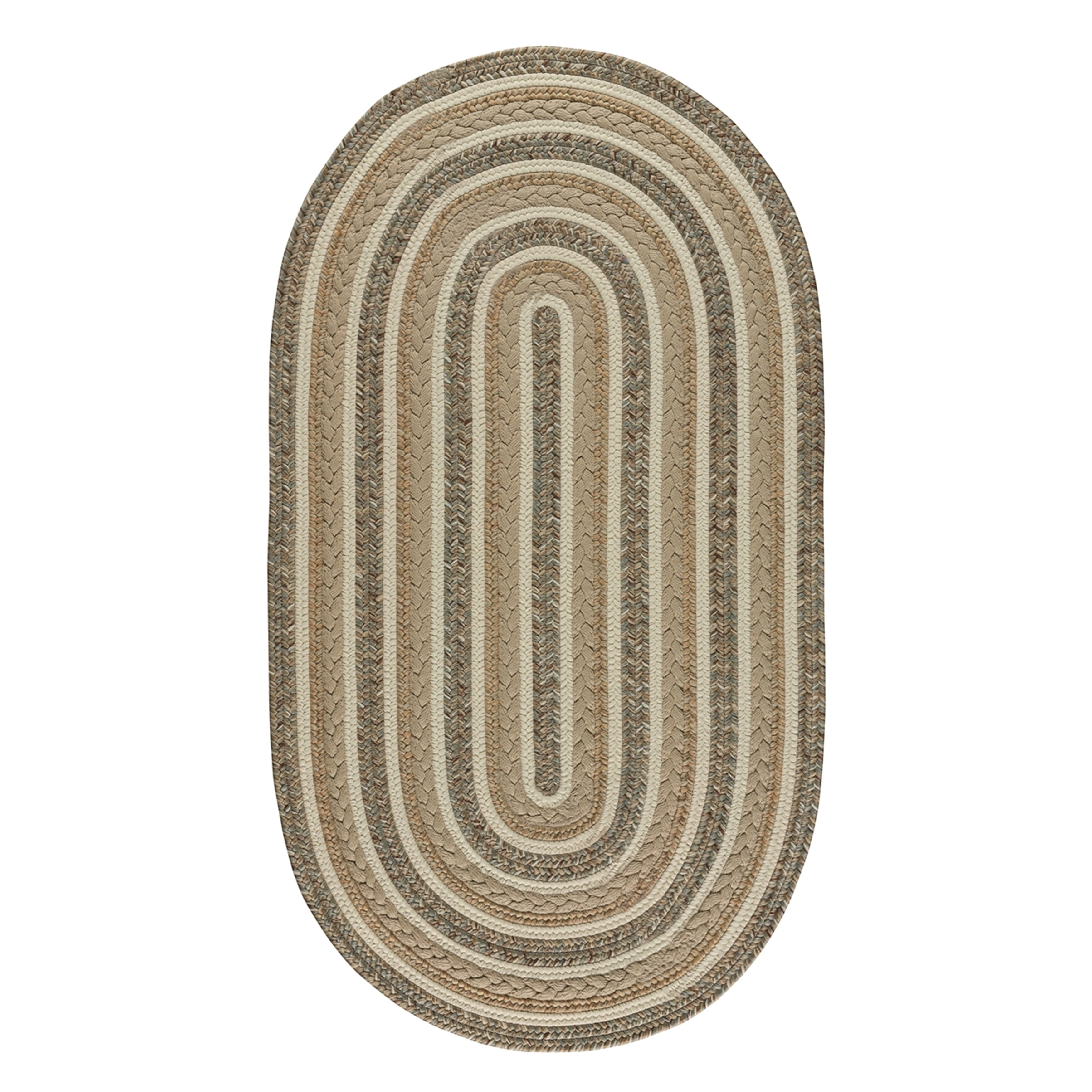 Capel Rugs Braided Platform Beige