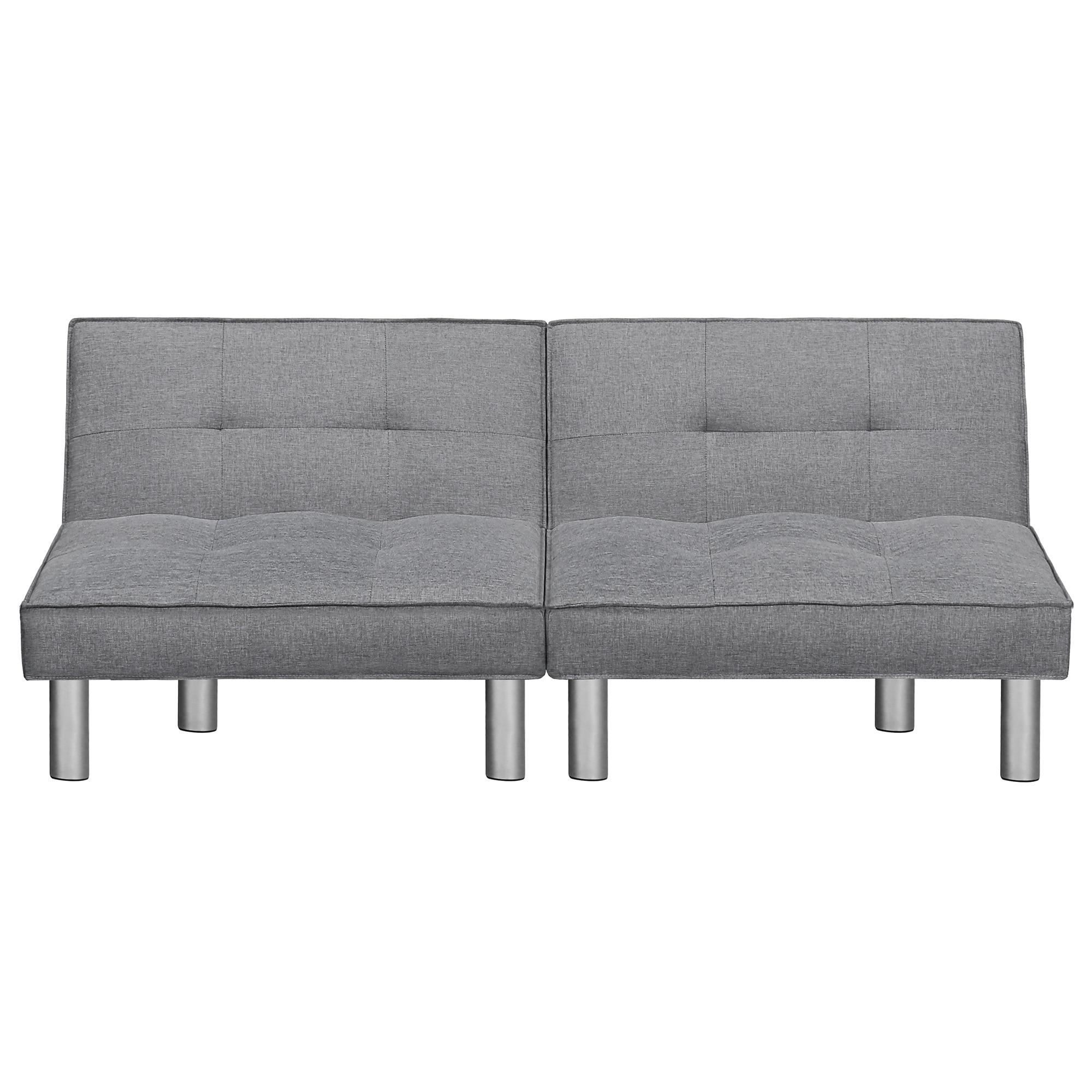 Sleeplanner Futon Sofa Bed With Microfiber Upholstery Grey