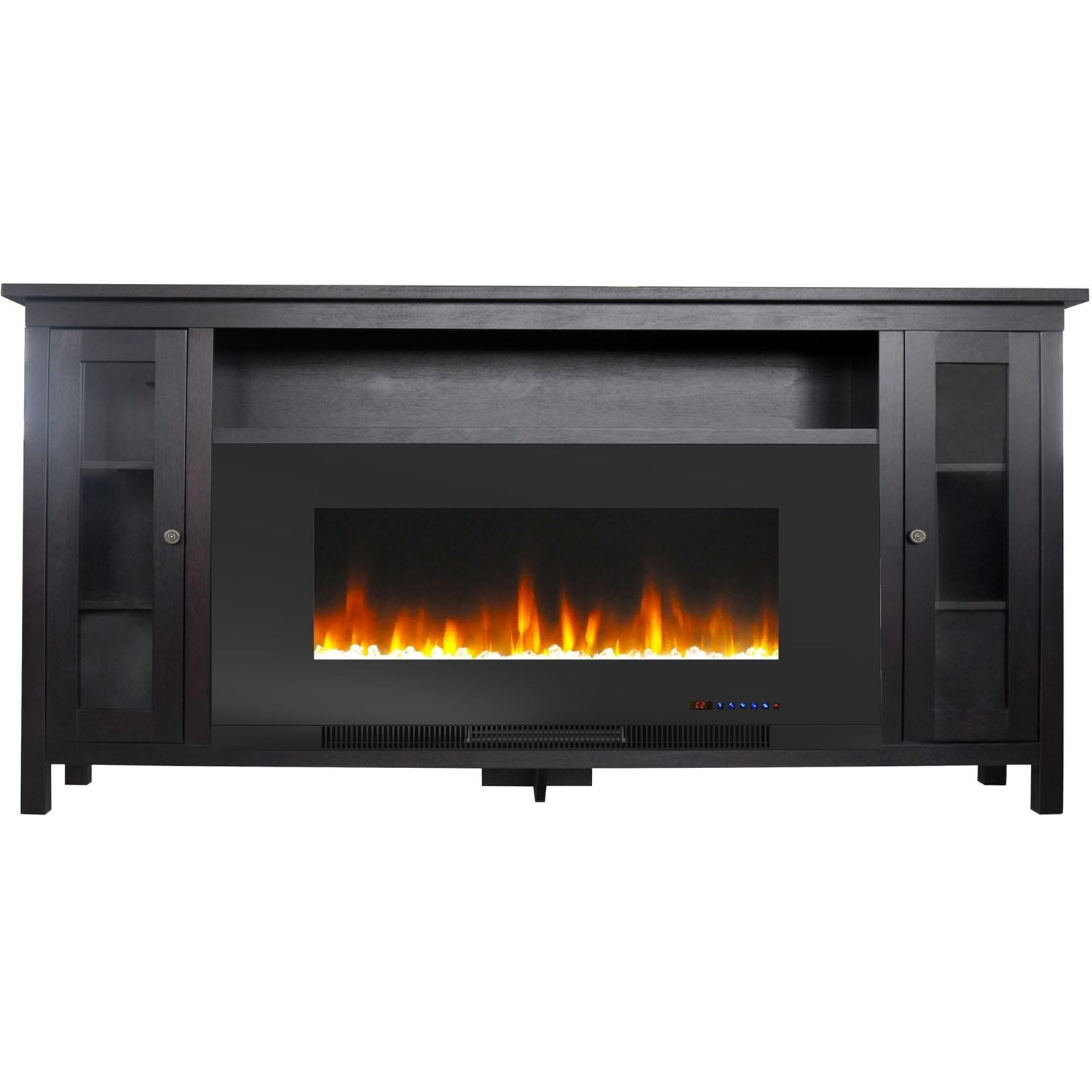 Shop Cambridge Somerset 70 In Black Electric Fireplace Tv Stand