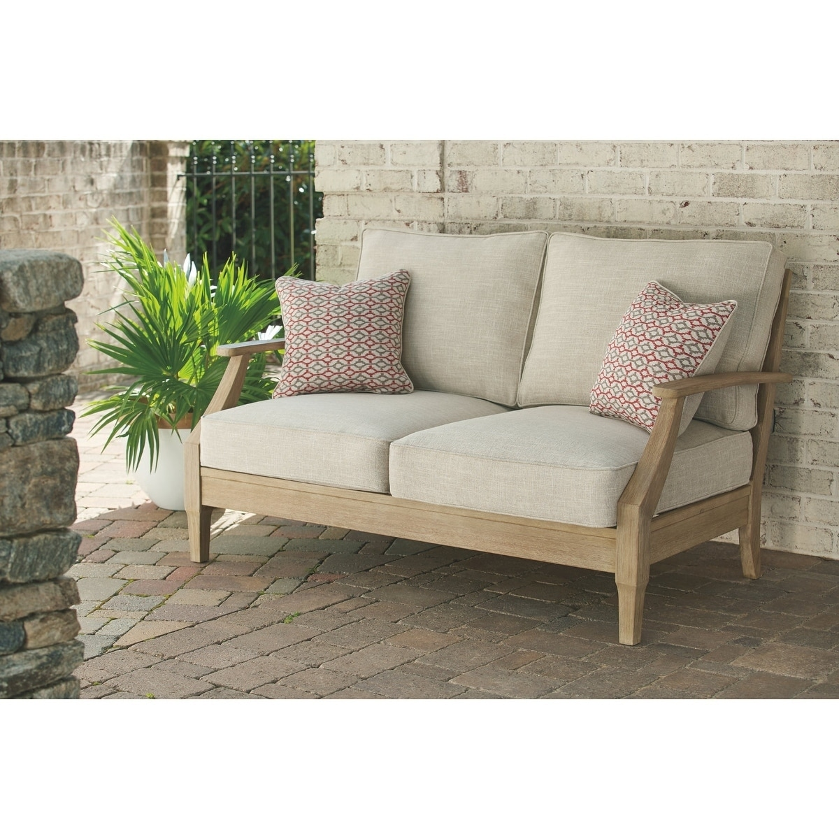 Shop Ashley Furniture Signature Design Clare View Outdoor Loveseat W