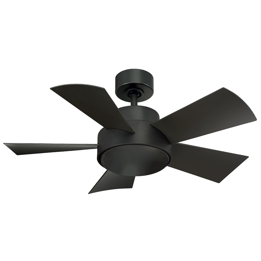 Elf 38 Inch Five Blade Compact Indoor Outdoor Smart Ceiling Fan With Six Sd Dc Motor And Led Light