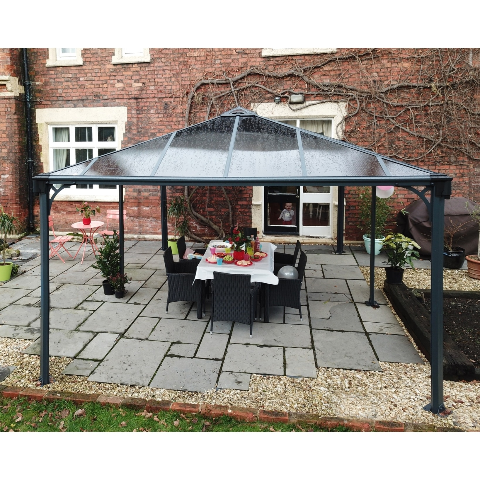 Palram Martinique 5000 16 Ft X 12 Rectangle Hard Top Gazebo