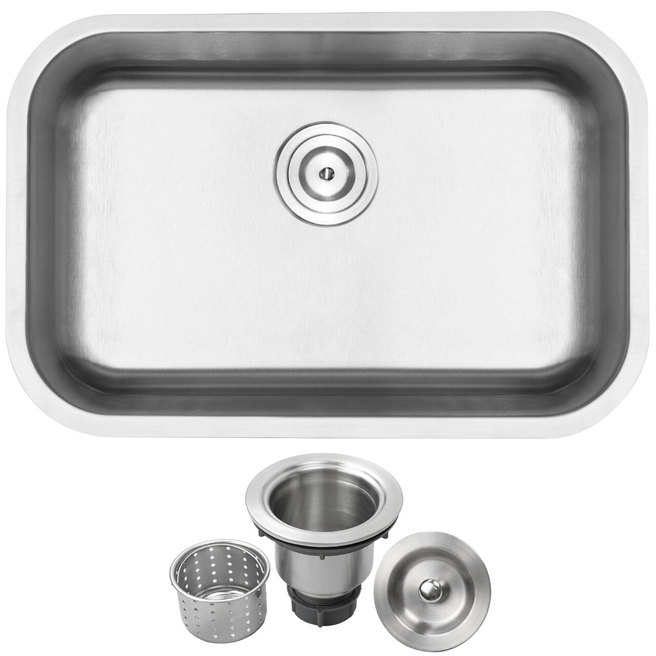 27 Ticor L18 18 Gauge Stainless Steel Undermount Single Basin Kitchen Sink
