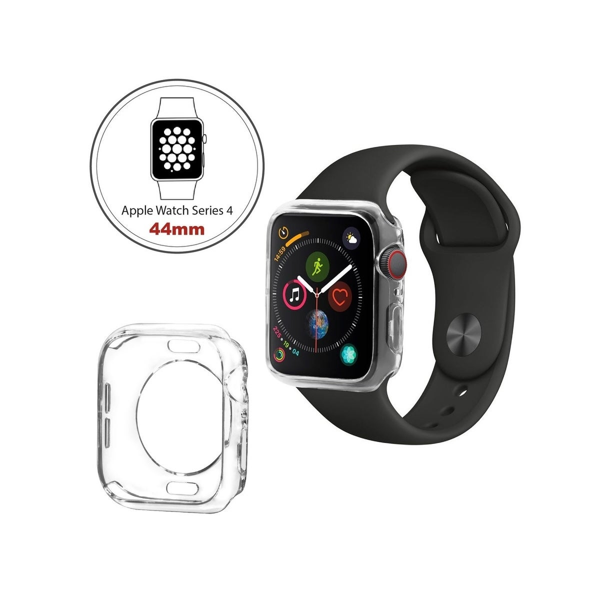 low priced 10466 20aca INSTEN Apple Watch Series 4 [40mm/44mm] Clear TPU Protective Bumper Case