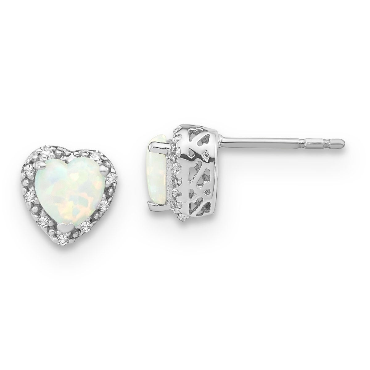 Perfect Jewelry Gift SS White Ice .02 ct Diamond Post Earrings