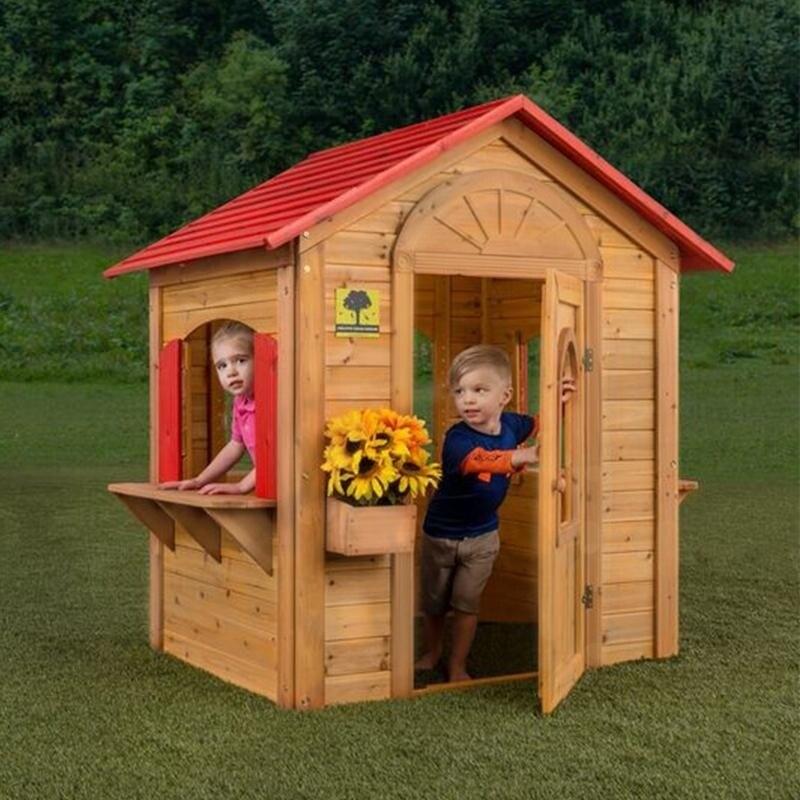 Shop Sunnybrook Lane Wooden Kids Playhouse Free Shipping Today